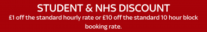 Student and NHS Discount offer